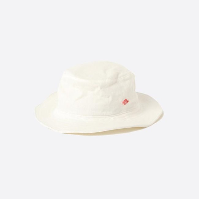 [단톤]DANTON_코튼 린넨 모자 JD-7124 MSL COTTON LINEN HAT White