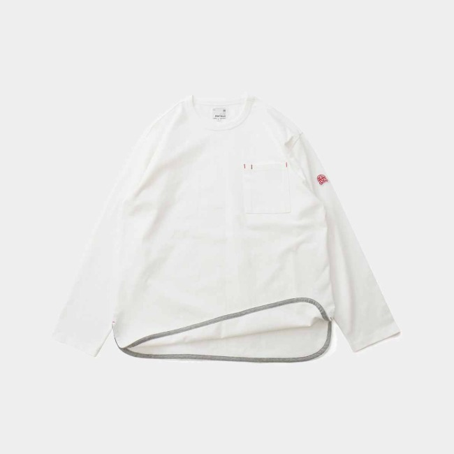 [홀리선]HORLISUN_Emery Long Sleeve Pocket Seasonal T-shirts Offwhite