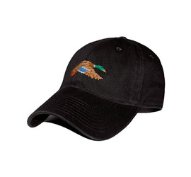 [스매더스 앤 브랜슨]SMATHERS AND BRANSON -청둥오리 블랙 Mallard Needlepoint Hat [Black]