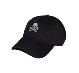 [스매더스 앤 브랜슨]SMATHERS AND BRANSON -해적기 블랙 Jolly Roger Needlepoint Hat [Black]