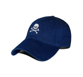 [스매더스 앤 브랜슨]SMATHERS AND BRANSON -해적기 네이비Jolly Roger Needlepoint Hat [Navy]