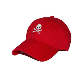[스매더스 앤 브랜슨]SMATHERS AND BRANSON -해적기 레드 Jolly Roger Needlepoint Hat [Red]