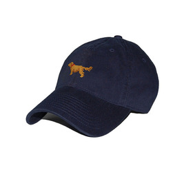 [스매더스 앤 브랜슨]SMATHERS AND BRANSON -골든 리트리버 네이비 Golden Retriever Needlepoint Hat [Navy]
