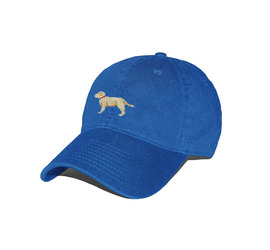 [스매더스 앤 브랜슨]SMATHERS AND BRANSON -Yellow Lab Needlepoint Hat [Royal]