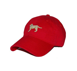 [스매더스 앤 브랜슨]SMATHERS AND BRANSON -강아지 레드 Yellow Lab Needlepoint Hat [Red]