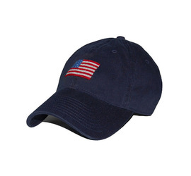 [스매더스 앤 브랜슨]SMATHERS AND BRANSON -성조기 네이비 American Flag Needlepoint Hat [Navy]