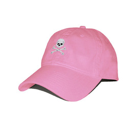 [스매더스 앤 브랜슨]SMATHERS AND BRANSON -해적기 핑크 Jolly Roger Needlepoint Hat[Pink]