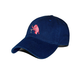 [스매더스 앤 브랜슨]SMATHERS AND BRANSON _코끼리 네이비 Elephant Martini Needlepoint Hat [Navy]
