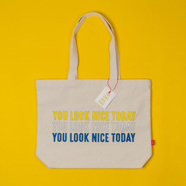 [유룩나이스투데이] YOU LOOK NICE TODAY MARKET BAG - ECRU