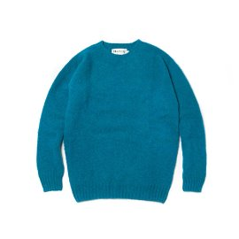 [할리오브스코틀랜드] HARLEY OF SCOTLAND_ 셰기 독 크루넥 스웨터 Shaggy Dog Crew Neck Sweater - Bondi Blue