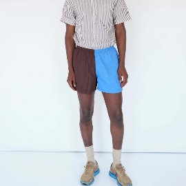[MAGILL LA]맥길LA_제프리 컬러 블록 쇼츠 JEFFERY COLOR BLOCK SHORT _BROWN/BLUE