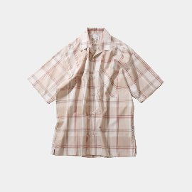 [홀리선]HORLISUN_Ophir Various Multi Check Loosefit Shirts  / Beige
