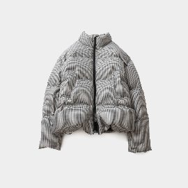 [홀리선]HORLISUN_Southpark Check Pattern Duckdown Jacket Gray Beige