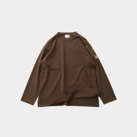 [홀리선]HORLISUN_20FW Lawrence Overfit Long Sleeve Pocket T-shirts  Light Brown