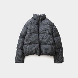 [홀리선]HORLISUN_Southpark Check Pattern Duckdown Jacket Charcoal Gray