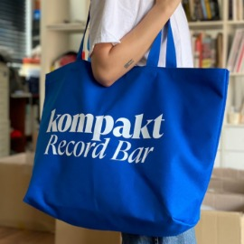[컴팩트 레코드 바]KOMPAKT RECORD BAR_Original Logo Tote bag - Blue/White