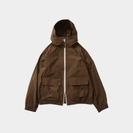 [홀리선]HORLISUN_Breeze Nylon Hood Zip Up Jacket  Brown