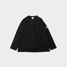[홀리선]HORLISUN_20FW Lawrence Overfit Long Sleeve Pocket T-shirts Black