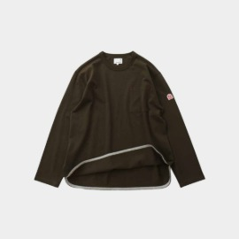 [홀리선]HORLISUN_Emery Long Sleeve Pocket Seasonal T-shirts Dark Khaki