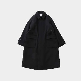[홀리선]HORLISUN_Winterport Wool Long Coat Seasonal Seasonal Black