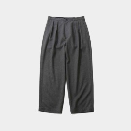 [홀리선]HORLISUN_Corinth Wide Loose Pants Melange Gray
