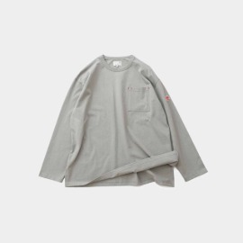 [홀리선]HORLISUN_20FW Lawrence Overfit Long Sleeve Pocket T-shirts Gray