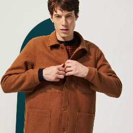 [르 몽생미셸] LE MONT SAINT MICHEL_WOOLEN WORK JACKET CAMEL